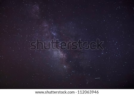 Dark matter inside the Milky Way in wide field astronomical photo - stock photo