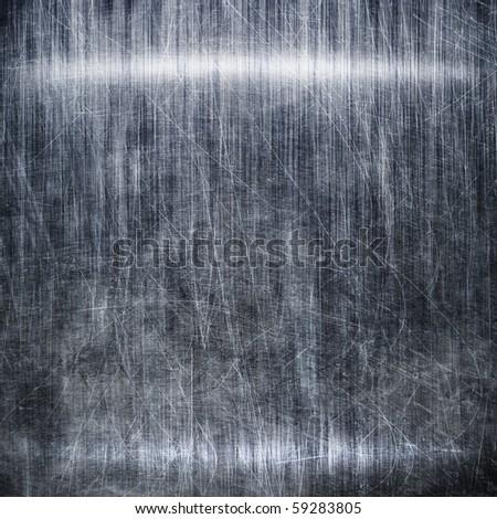 Dark metallic plate - stock photo