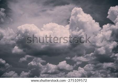 Dark Moody Clouds - stock photo