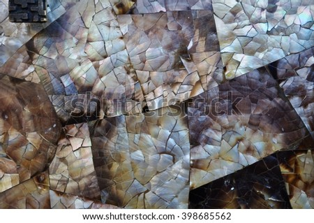 Dark mother of Pearl abstract mosaic background