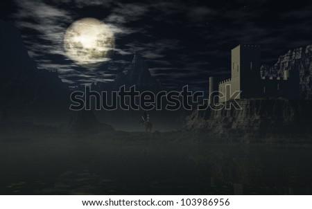Dark Night - stock photo