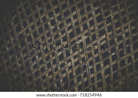 Dark Old Bamboo background use as natural background