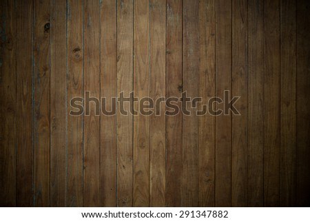 Dark old brown wood plank wall texture background - stock photo