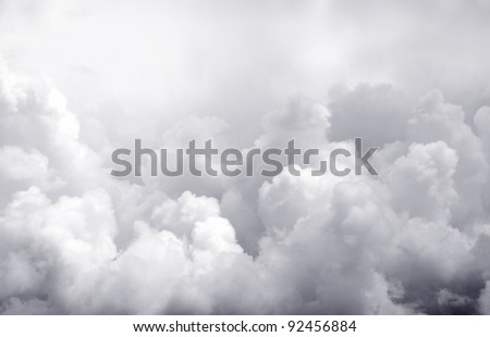 Dark ominous clouds. Dramatic sky - stock photo