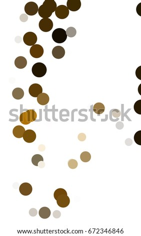 Dark Orange abstract pattern with circles. Geometry template for your business design. Background with colored spheres.