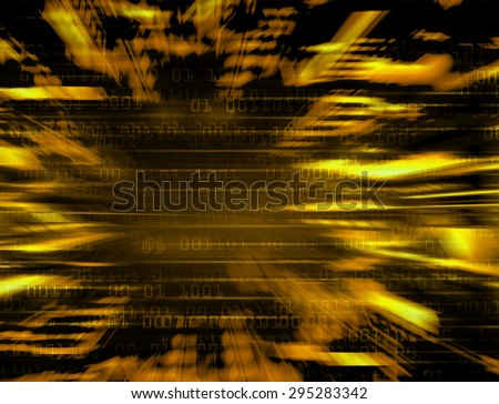 dark orange Binary matrix with motion effect. technology graphic computer cyber. infographics. one. zero. glow.  - stock photo