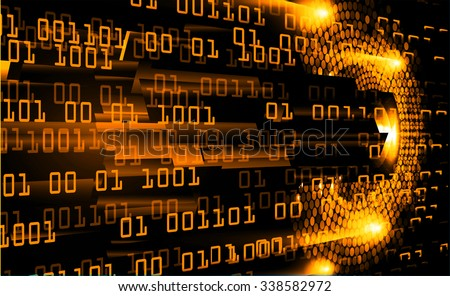 dark orange Light Abstract Technology background for computer graphic website internet and business. circuit. illustration.digital.infographics. binary code. zero one.  - stock photo