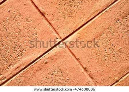 Dark orange stone background, Orange cement texture, Abstract texture background