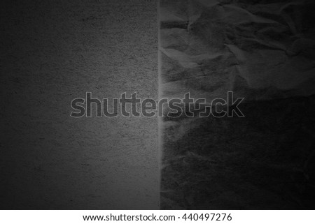 Dark paper creased with light texture background