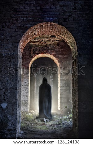 dark presence - stock photo