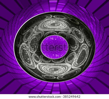 dark purple black Circle wave illustration of technology internet network computer background with binary, style. infographics. Information. motion blur. pixel. Binary digit. number. web wabsite tech