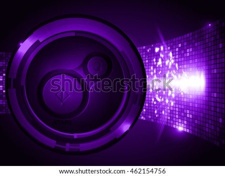 dark purple illustration of technology internet network computer background with binary number, style. infographics. Information. motion blur. pixel. Binary digit. number. Odometer,clock, watch