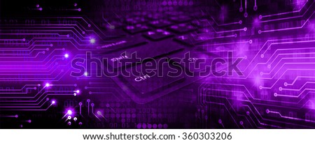 Dark purple Light Abstract Technology background for computer graphic website internet business. circuit. illustration. infographics. motion move blur.neon.