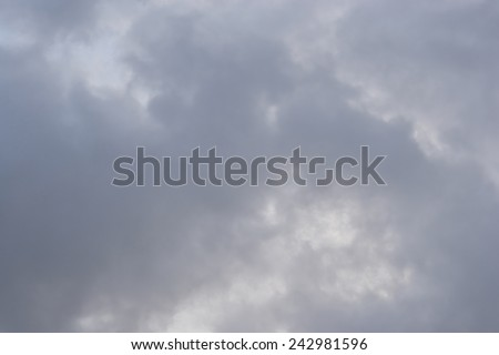 Dark,, rain clouds. Dramatic sky. - stock photo