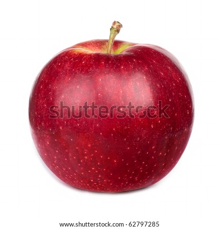 Dark-red apple. Isolated on white background. - stock photo