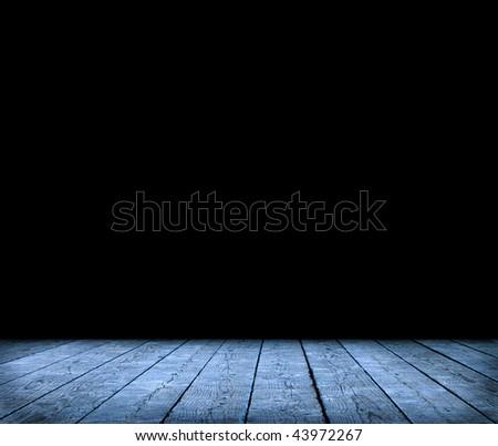 Dark room interior - stock photo