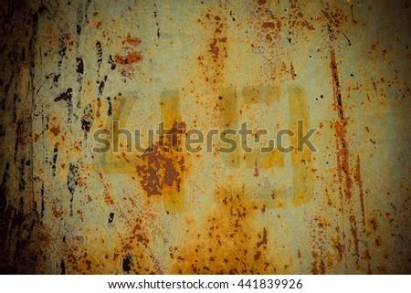 dark rusty metal wall - stock photo