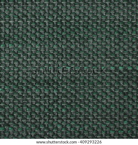 Dark sea green fabric texture. Close up, top view.
