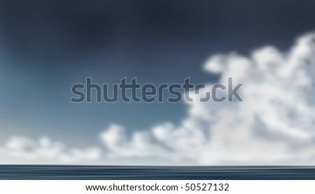 dark sky, cloudy background - stock photo