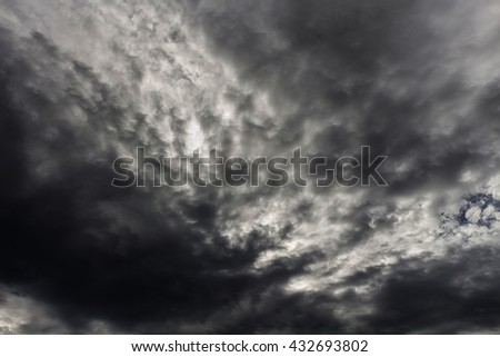 dark storm clouds - stock photo
