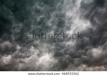 Dark storm clouds in the sky nature background