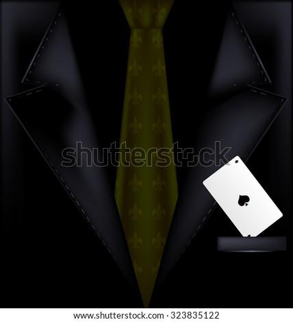 dark suit - stock photo