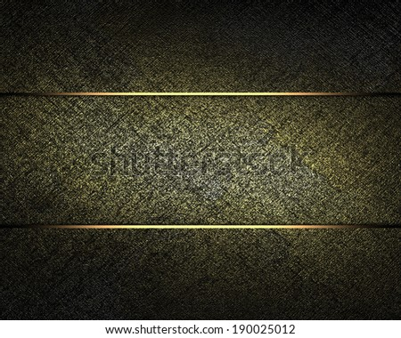 dark texture with gold scuffed with a sign for the label. Design template. Design for site - stock photo