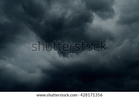 dark thunder clouds