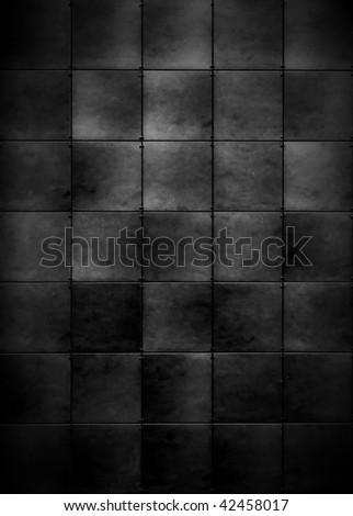 Dark Tiled Background - stock photo