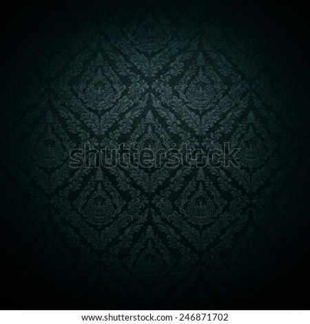 dark wallpaper background; baroque style. - stock photo