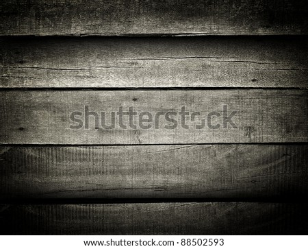 dark wood board - stock photo