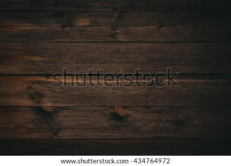 dark wood board use for background. Old wooden wall - stock photo
