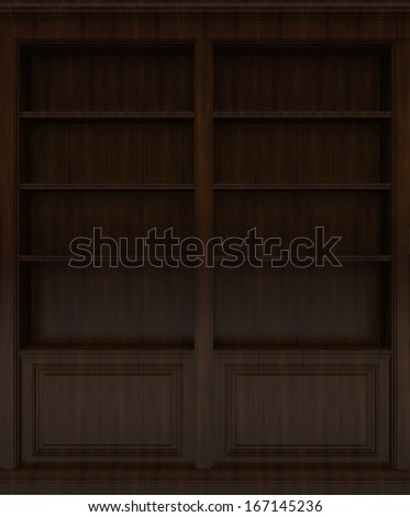 Dark Wooden book shelf
