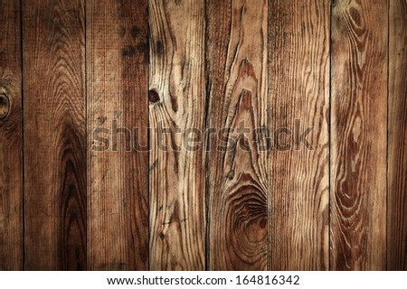 Dark wooden plank wall background or texture - stock photo