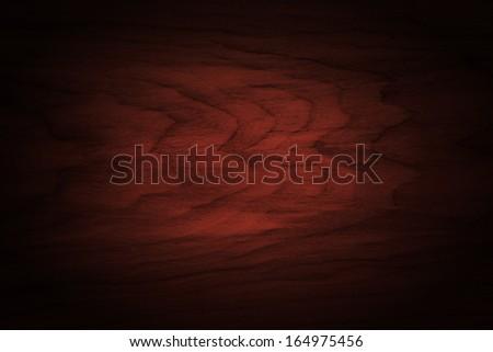dark wooden texture with vignette. - stock photo