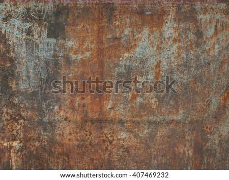 Dark worn rusty metal texture background.  - stock photo
