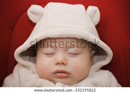 Darling baby boy sleeping  - stock photo