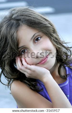 darling preteen girl - stock photo