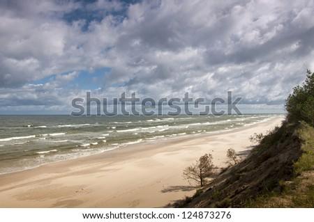 Darlowo Baltic Sea. Poland - stock photo