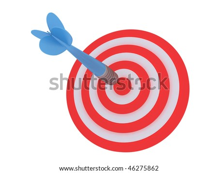 Dart and target - stock photo