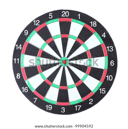 dart board isolated on white