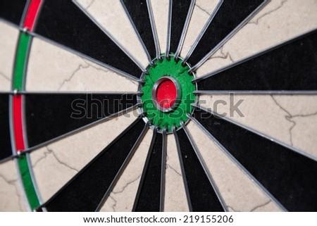 dart board sisal no darts - stock photo