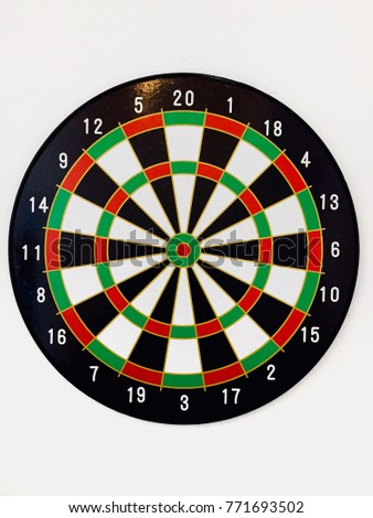 Dart board with white background