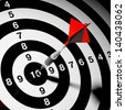 Dart hitting a target. Success in business. - stock photo