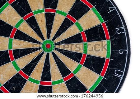 dart isolated on white - stock photo