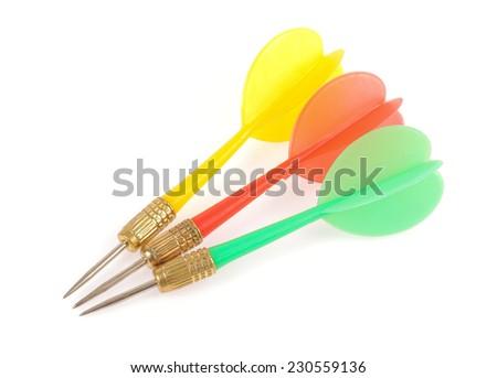 dart isolated on white background. - stock photo