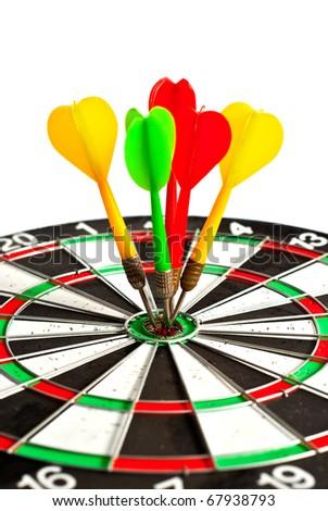 dart isolated on white background - stock photo