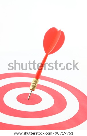 Dart on center of target.