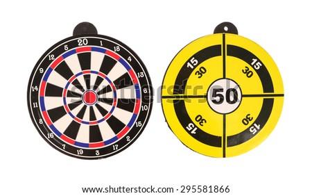 Dart target isolated on white background - stock photo
