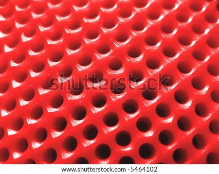 Dartboard - macro (red) - stock photo